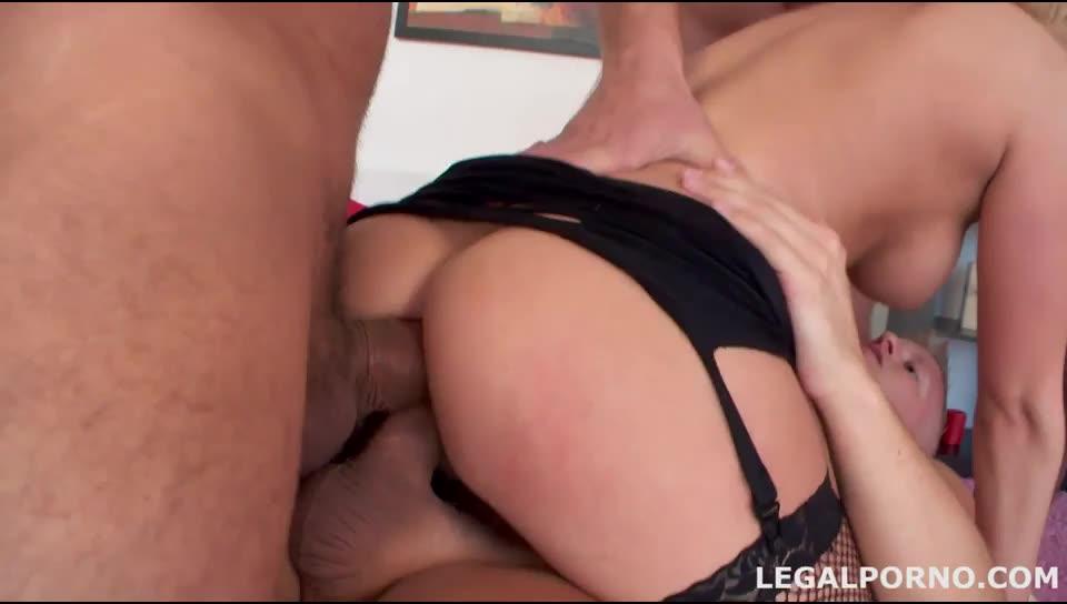 [Legalporno] First dap, tremendous double anal, cu games and spearm swallow - Angel Black (DAP)/(Blonde)