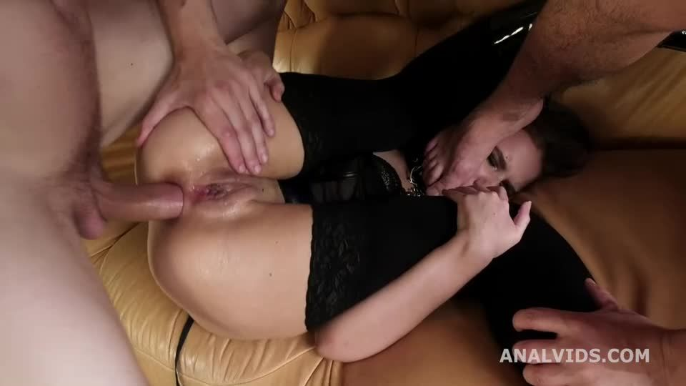 Wet Welcome to Porn, Balls Deep Anal, DP, Gapes and Cum in mouth (LegalPorno) Screenshot 7