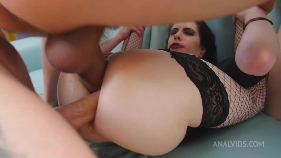 Gets her ass pounded by three big cocks and gets her ass filled with piss and milk, DAP prolapse rimming PAF013 (LegalPorno) Screenshot 1