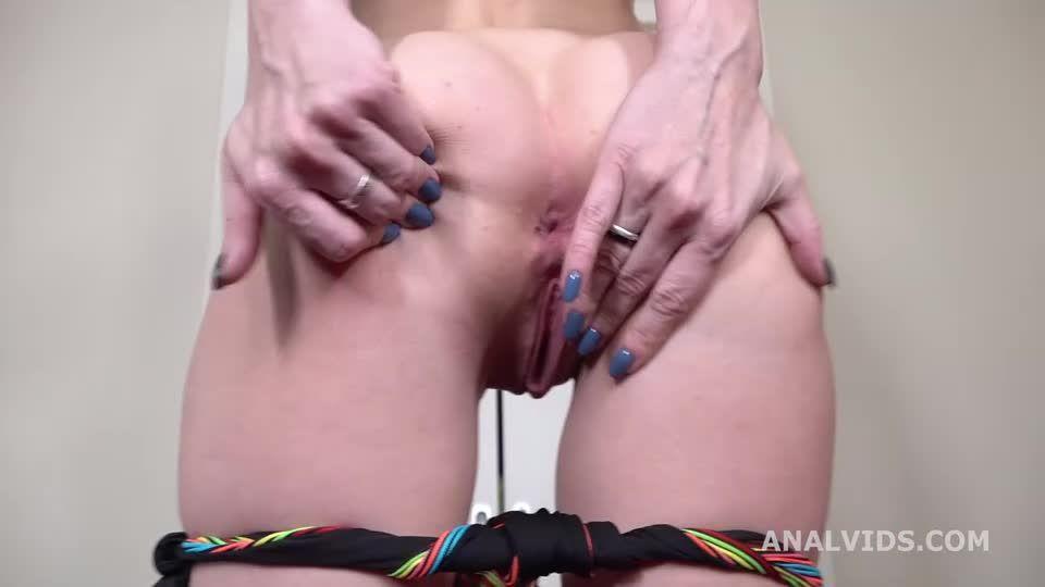 My First DP, Balls Deep Anal, DP, Gapes and Cum in Mouth (LegalPorno / AnalVids) Screenshot 0