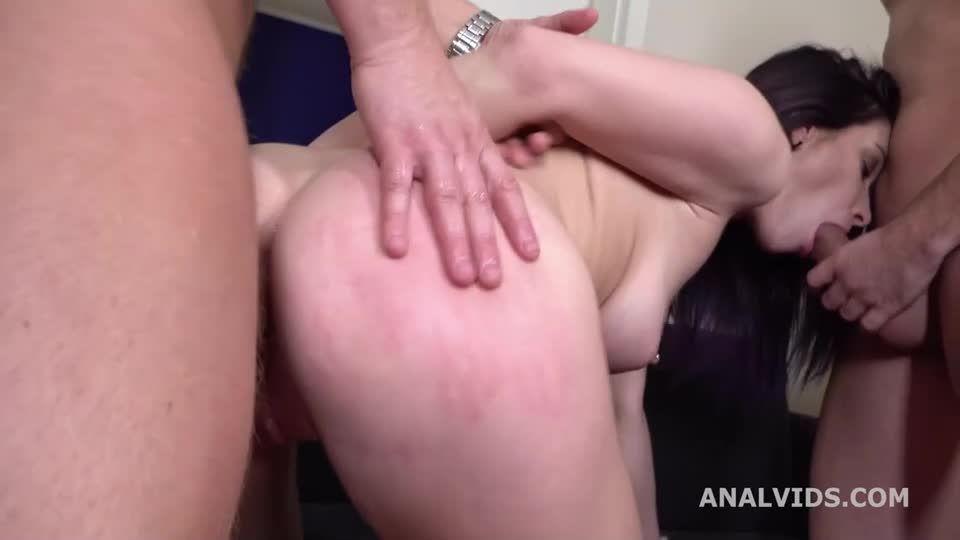 My First DP, Balls Deep Anal, DP, Gapes and Cum in Mouth (LegalPorno / AnalVids) Screenshot 2