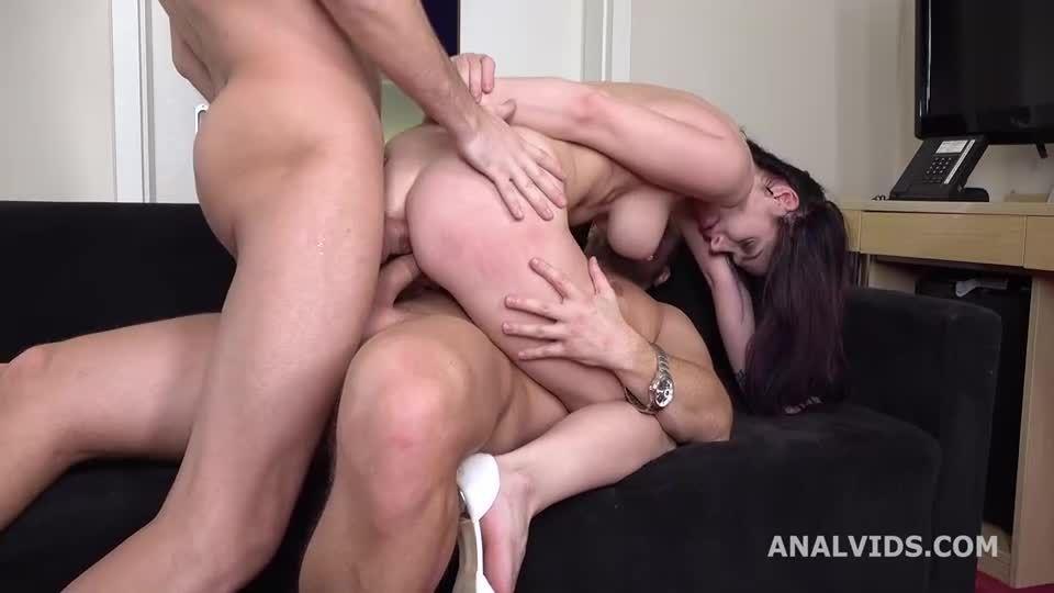 My First DP, Balls Deep Anal, DP, Gapes and Cum in Mouth (LegalPorno / AnalVids) Screenshot 3