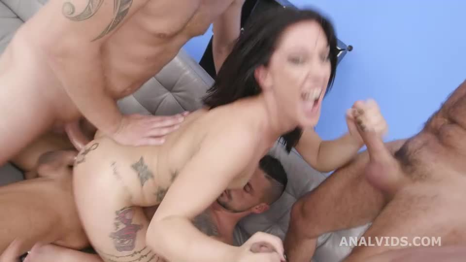 [LegalPorno / AnalVids] DAP Destination, First Time DAP With Balls Deep Anal, Gapes And Swallow - Sabrina Ice (GangBang)/(Piersing)