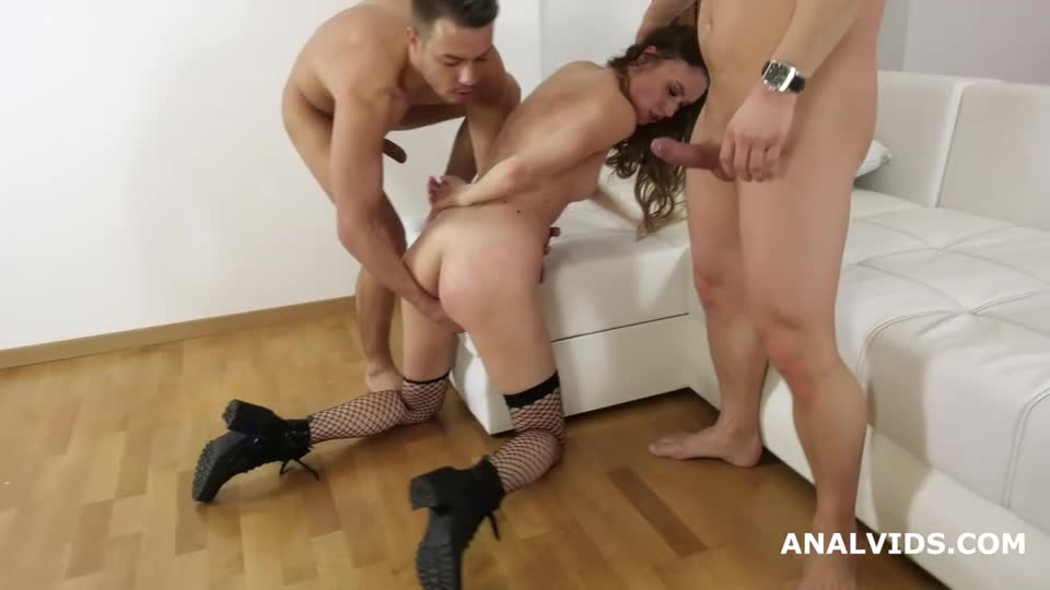 [LegalPorno] My First DP, Balls Deep Anal, DP, Manhandle, Gapes and Facial - May Fiesta (DP)/(Stockings)