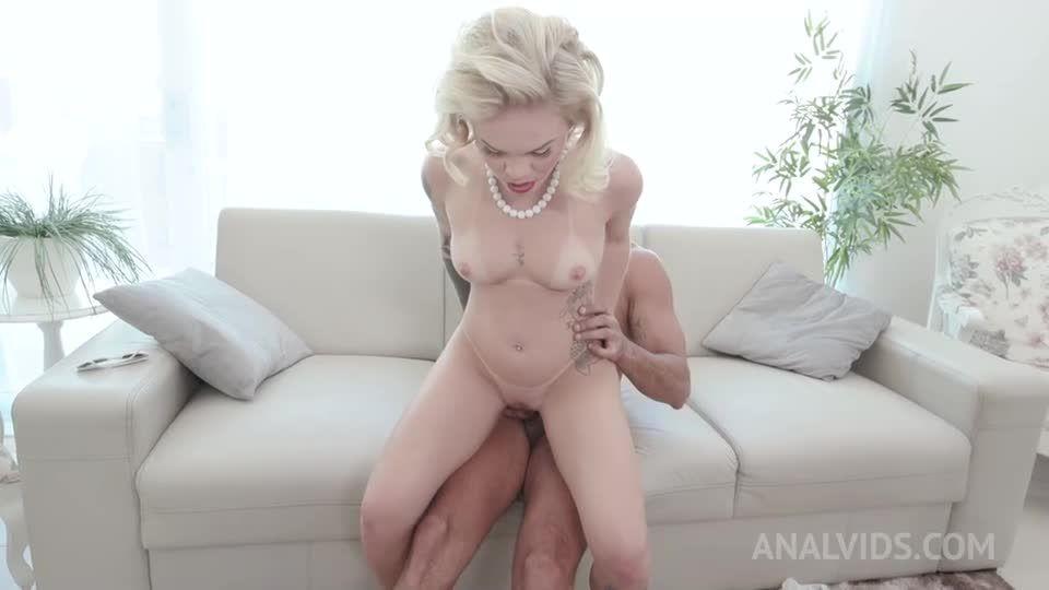 Hot blonde gets hardcore double penetration YE133 (LegalPorno / AnalVids) Screenshot 4