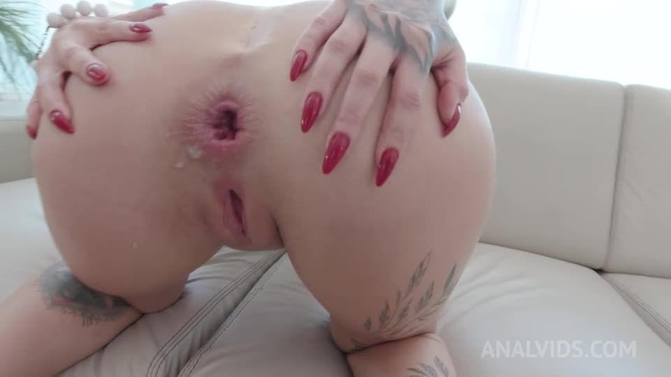 Hot blonde gets hardcore double penetration YE133 (LegalPorno / AnalVids) Screenshot 9