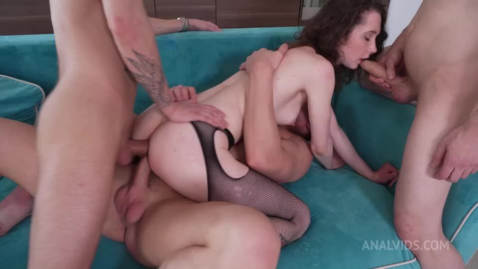 First Triple Anal Penetration (TAP) with skinny Schoolgirl NRX111 (LegalPorno / AnalVids) Screenshot 5
