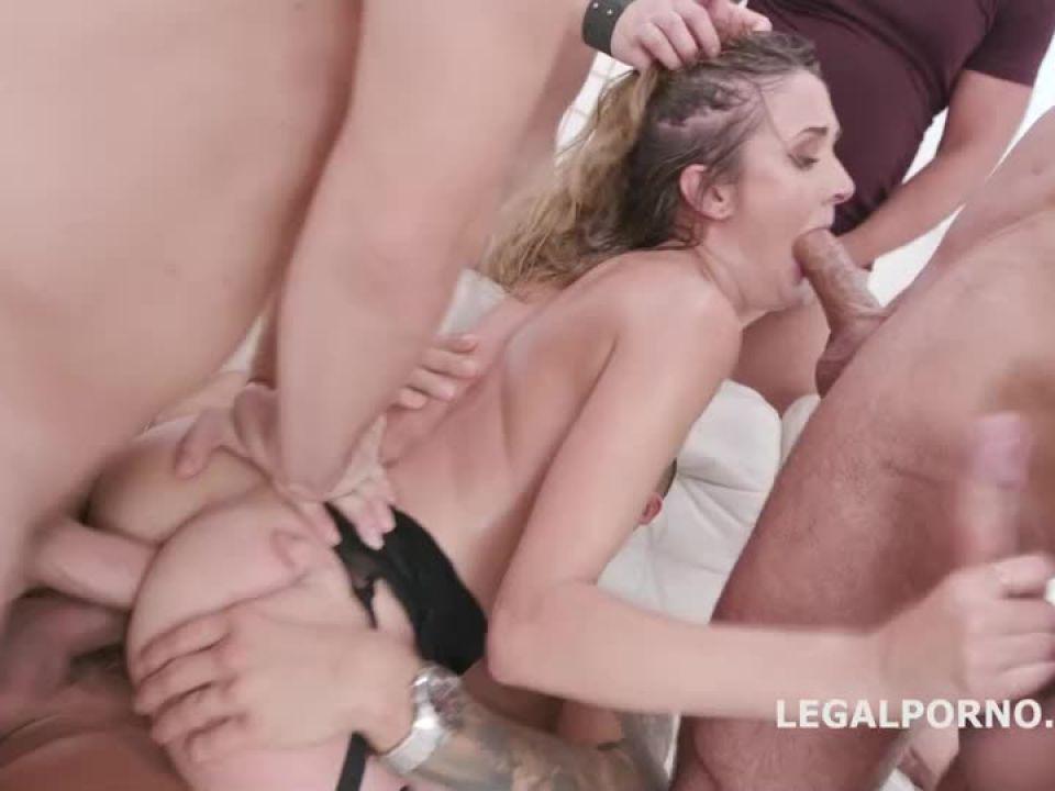 Submissive DAP Gangbang, Balls Deep Anal, DAP, Gapes, Swallow (LegalPorno) Screenshot 5
