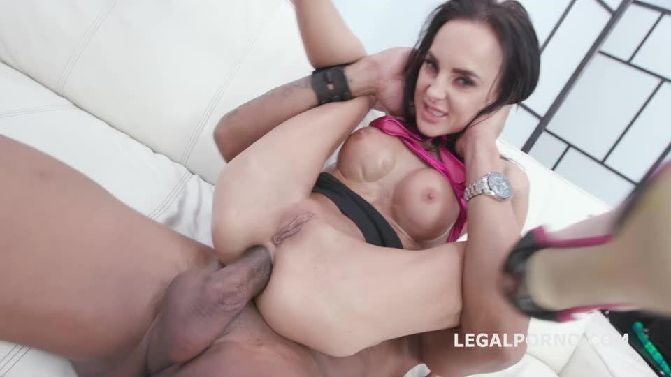 [LegalPorno] Double Anal Creampie, 2 BBC with Balls Deep Anal, DAP, Gapes, Creampie Swallow - Aletta Black (DAP)/(Brunette)