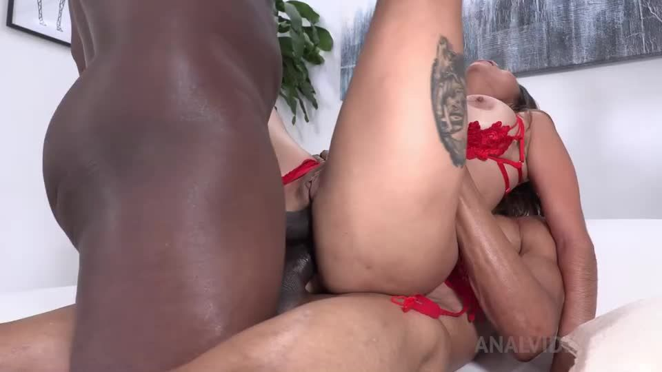 Double penetrated by 2 BBC NT029 (LegalPorno) Screenshot 4