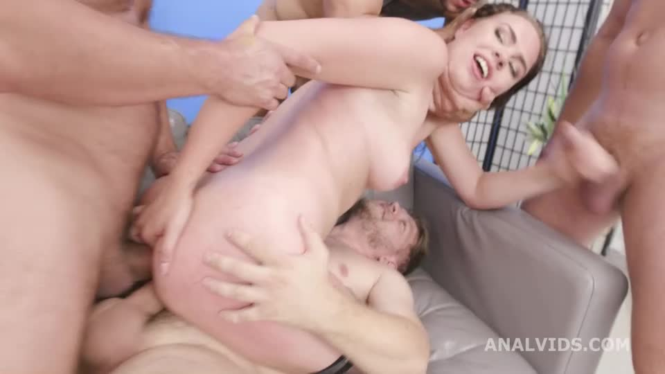 [LegalPorno] Manhandled Balls Deep Anal, DP and Swallow - Keira Flow (GangBang)/(Stockings)