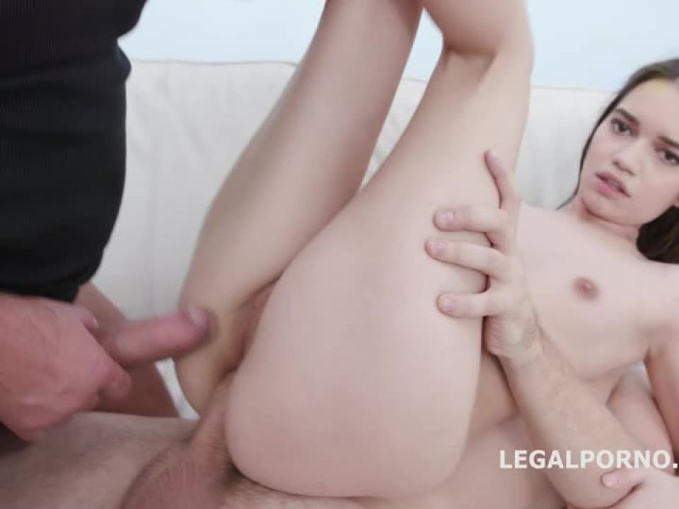First Time DP, Balls Deep Anal, Gapes and Swallow (LegalPorno) Screenshot 3