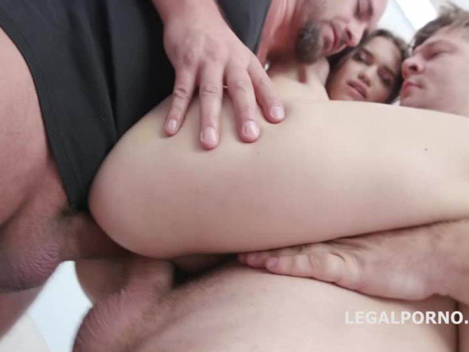 First Time DP, Balls Deep Anal, Gapes and Swallow (LegalPorno) Screenshot 5