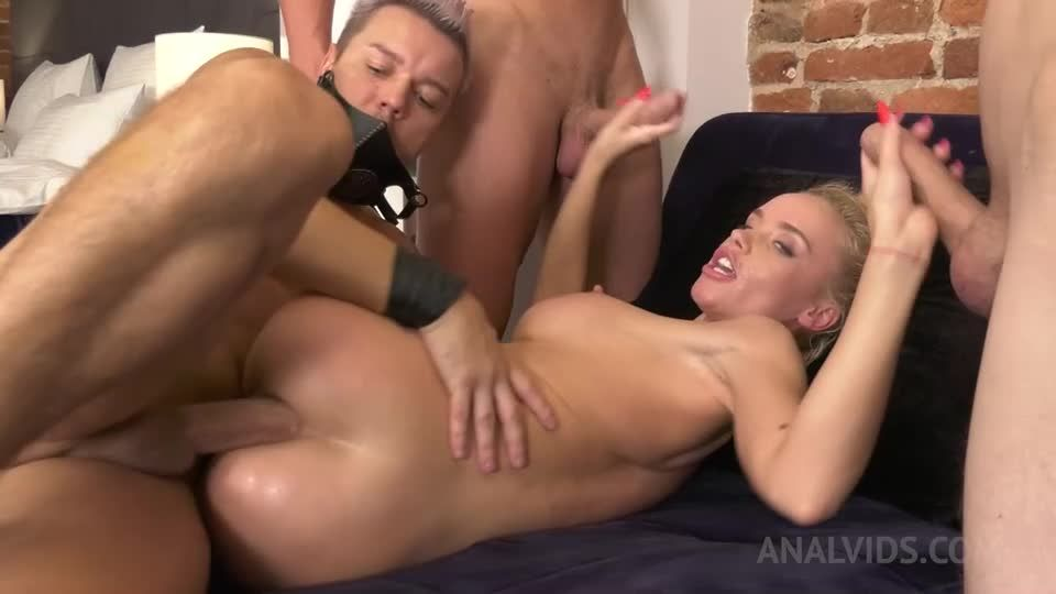 Little gymnast gets fucked hard by four dicks NRX043 (LegalPorno / AnalVids) Screenshot 8