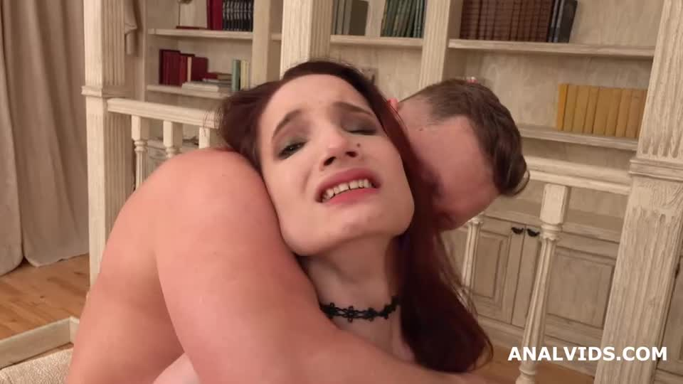 [LegalPorno] Busted DP, First Time DP with Balls Deep Anal, Gapes, Rough Sex and Cum in Mouth - Mia Sanders (DP)/(High Heels)
