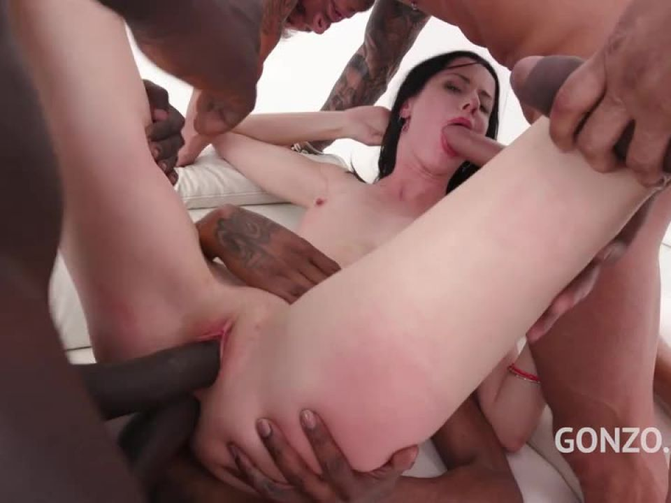 Takes on four huge cocks (LegalPorno) Screenshot 5
