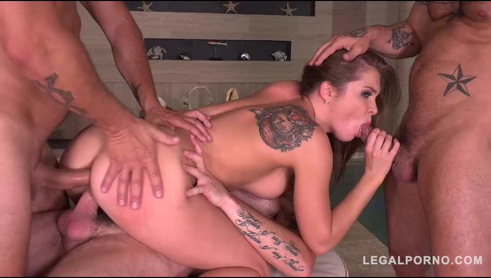 Sex starlet Intensely Fucked by 3 in Extreme airtight DP (LegalPorno) Cover Image