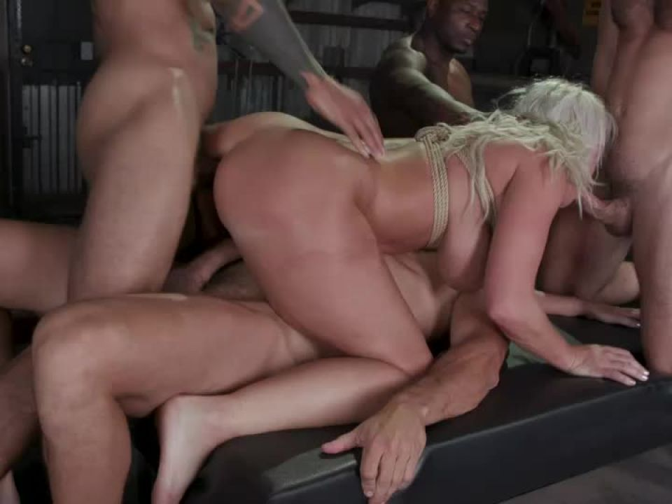 London's Stripper Fantasy GangBang: London Stuffed Airtight After Work (BoundGangBangs / Kink) Screenshot 6
