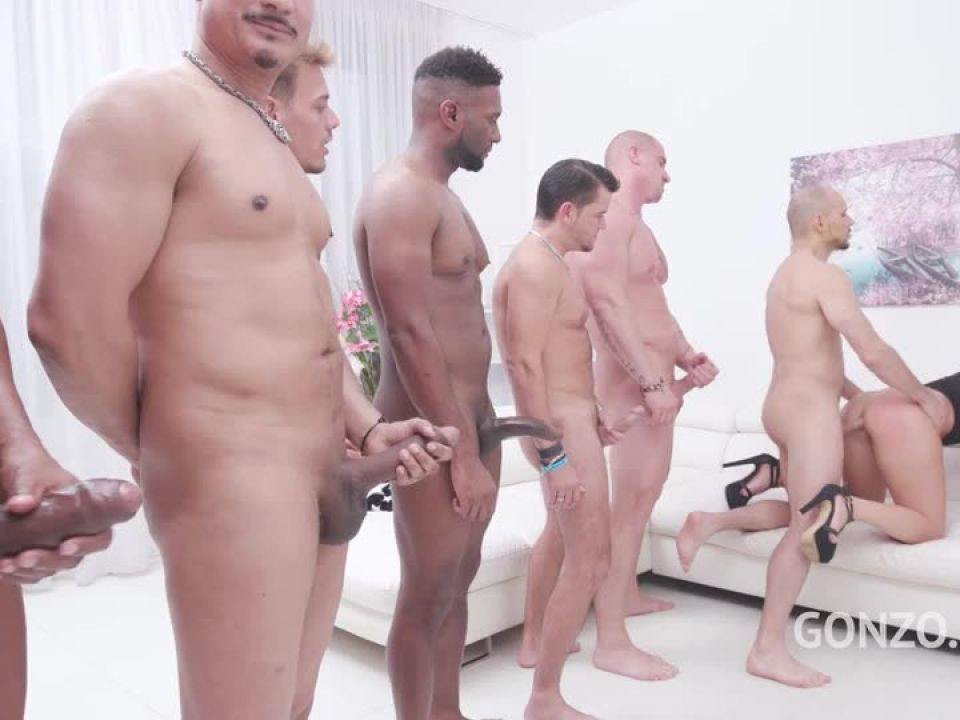 Assfucked by 1, 2, 3, 4 guys and then gangbanged by all 10 of them (LegalPorno) Screenshot 3