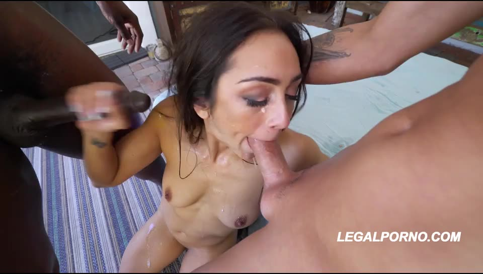 [LegalPorno] This little spinner takes a BBC & hard pounding from Tyler & asks for more her 1st ever DP! AA009 - Lilly Hall (DP)/(2M1F)