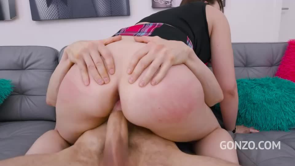 Assfucked by 1, 2, 3, 4 guys and then gangbanged by all 10 of them with Piss Drinking (LegalPorno) Screenshot 1