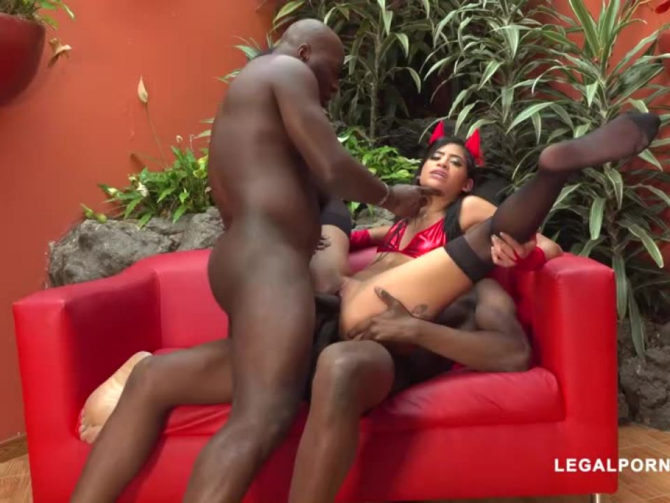 First time with two black bulls (LegalPorno) Screenshot 6