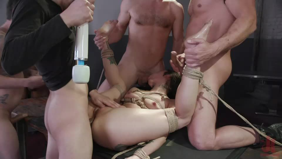 Filthy Whore Fucked, Stuffed and Shaken To The Core! (BoundGangBangs / Kink) Cover Image