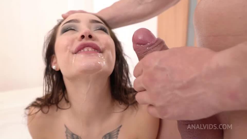 First Time Triple Penetration, DAP, piss, rough, deepthroat, facial cumshot NF097 (LegalPorno / AnalVids) Screenshot 5