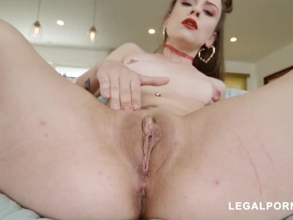 Tries hard to take all she can Gapes AtM ATP (LegalPorno) Screenshot 1