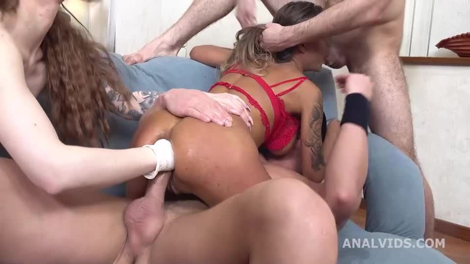 Wild Russia 2, Goes Crazy with Anal Fisting, Balls Deep Anal, DAP, ATOGM, Pee Drink, Squirting, ButtRose (LegalPorno / AnalVids) Screenshot 7