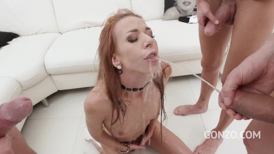 Returns to studio for intense DP, Piss Drinking and Facial (LegalPorno / Gonzo) Screenshot 3