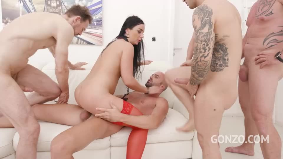 Assfucked by 1, 2, 3, 4 guys and then gangbanged by all 10 of them with DP, DVP and Piss Drinking (LegalPorno) Screenshot 6