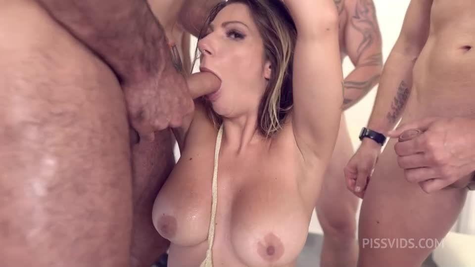 BDSM bound Gangbang, DAP Deepthroat Piss bbc Facial cumshot NF125 (LegalPorno / AnalVids) Screenshot 2
