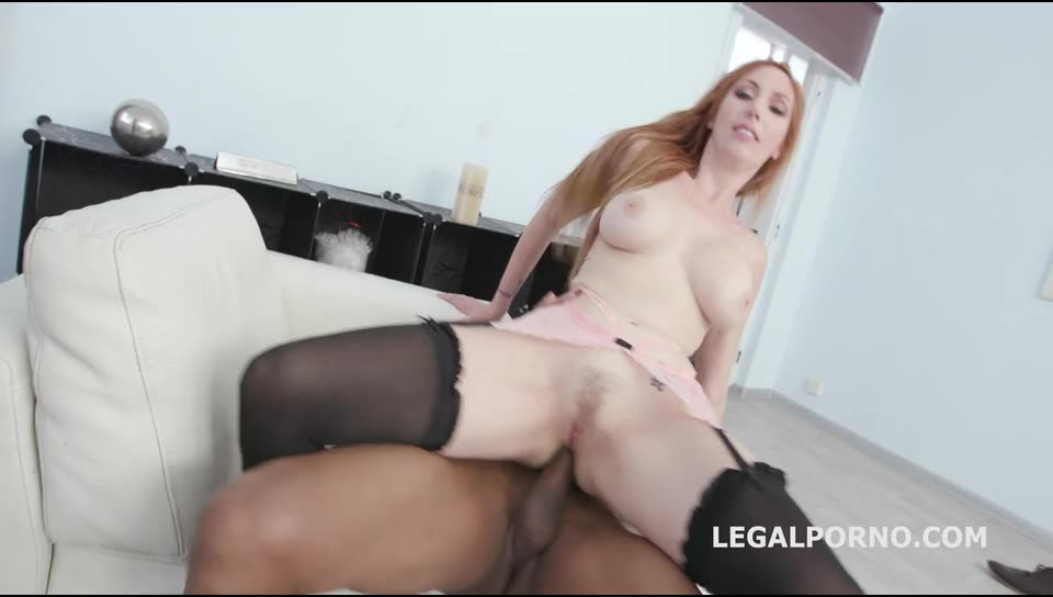 [LegalPorno] Double Anal Creampie 2 BBC with Big Gapes, Balls Deep Anal, DAP, Creampie to Swallow - Lauren Phillips (DAP)/(High Heels)