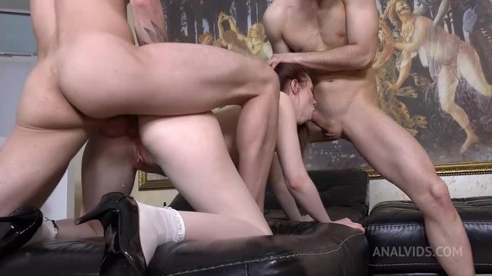 Her first Double Vaginal (DVP) + DP! Hard, Triple ass licking, slaps NRX100 (LegalPorno / AnalVids) Screenshot 3