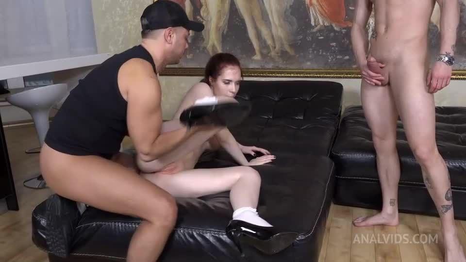 Her first Double Vaginal (DVP) + DP! Hard, Triple ass licking, slaps NRX100 (LegalPorno / AnalVids) Screenshot 7