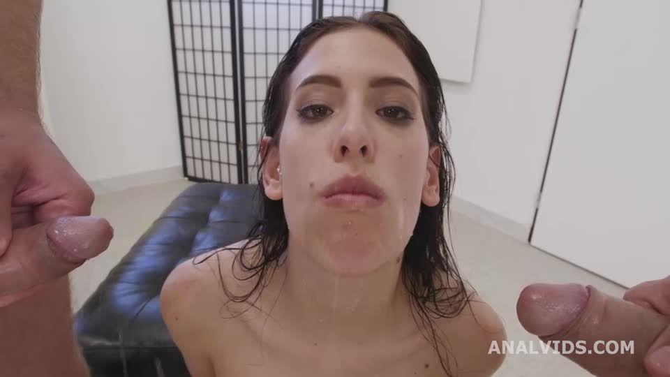 DAP Destination Goes Wet, ATM, DAP, Big Gapes, Almost ButtRose, Pee Drink, Cum in Mouth, Swallow (LegalPorno) Screenshot 6