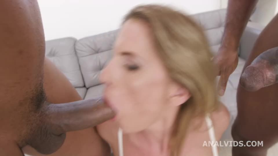 Anal Creampie turns Wet, Balls Deep Anal, DP, Pee, Gapes, Creampie Swallow (LegalPorno / AnalVids) Screenshot 1