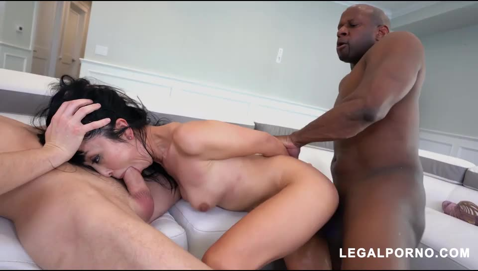 [LegalPorno] Double Stuffed By Hard Dicks AB017 - Marica Hase (DP)/(Interracial)