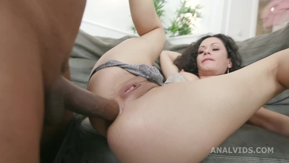 Black Roses, 2 BBC with Balls Deep Anal, DAP, Farts, Buttrose and Creampie Swallow (LegalPorno / AnalVids) Screenshot 2