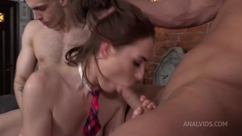First and hard Double Penetration! Hard, slaps, deep anal balls NRX087 (LegalPorno / AnalVids) Screenshot 2