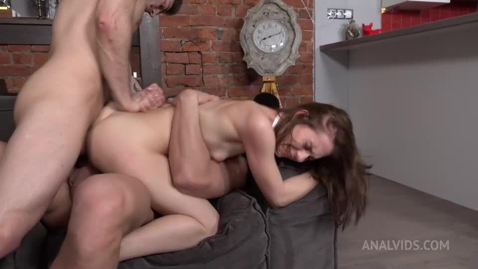 First and hard Double Penetration! Hard, slaps, deep anal balls NRX087 (LegalPorno / AnalVids) Screenshot 7