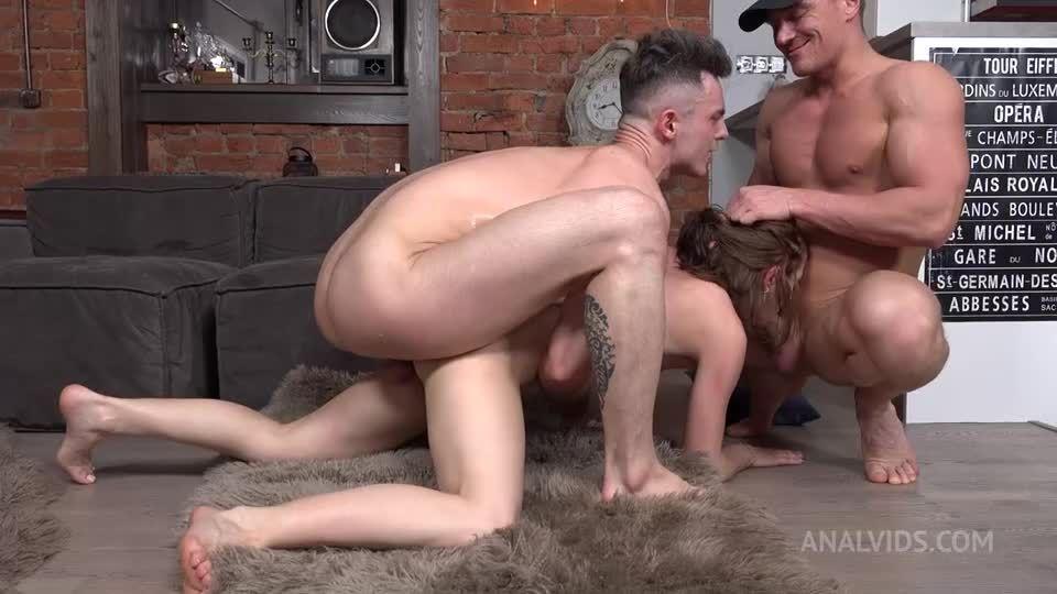 First and hard Double Penetration! Hard, slaps, deep anal balls NRX087 (LegalPorno / AnalVids) Screenshot 9