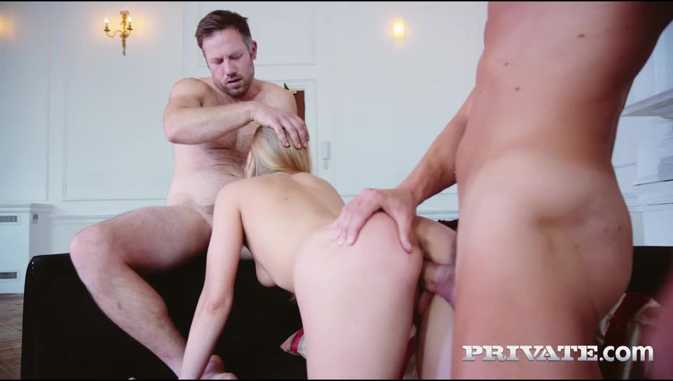 [Private] Two Cocks for Horny Blonde - Lucy Heart (DP)/(High Heels)