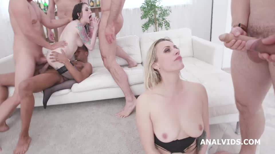 Two of a Kind 2, Orgy with Pee Drink, Squirt, Balls Deep Anal, DAP, Anal Fisting (LegalPorno) Screenshot 3