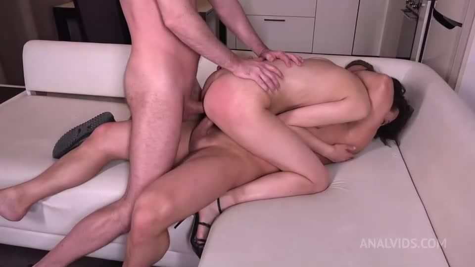 First Hard DP for Ass Petite with Gapes, and Cum in Mouth VG008 (LegalPorno / AnalVids) Screenshot 4