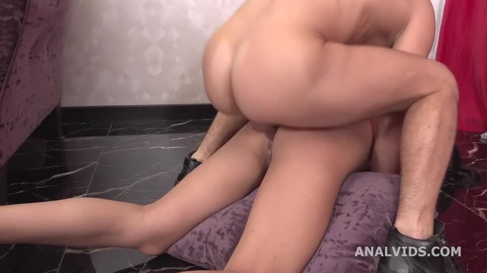 My First DP, Skinny Brunette with Balls Deep Anal, DP and Swallow (LegalPorno) Screenshot 9