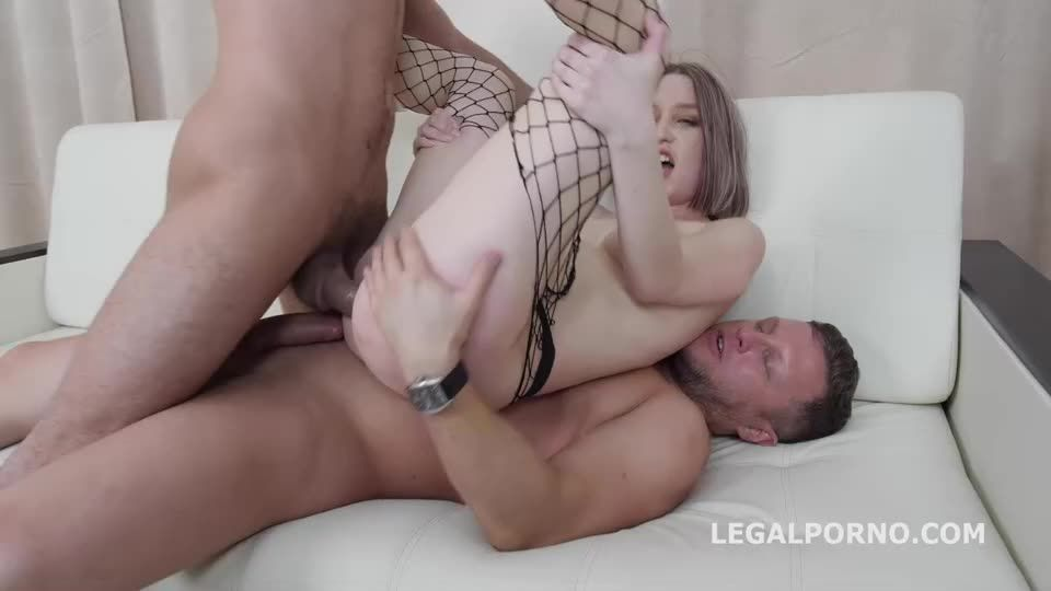 First Time DP, Balls Deep Action, Gapes, Rough Sex, Cum on face (LegalPorno) Cover Image