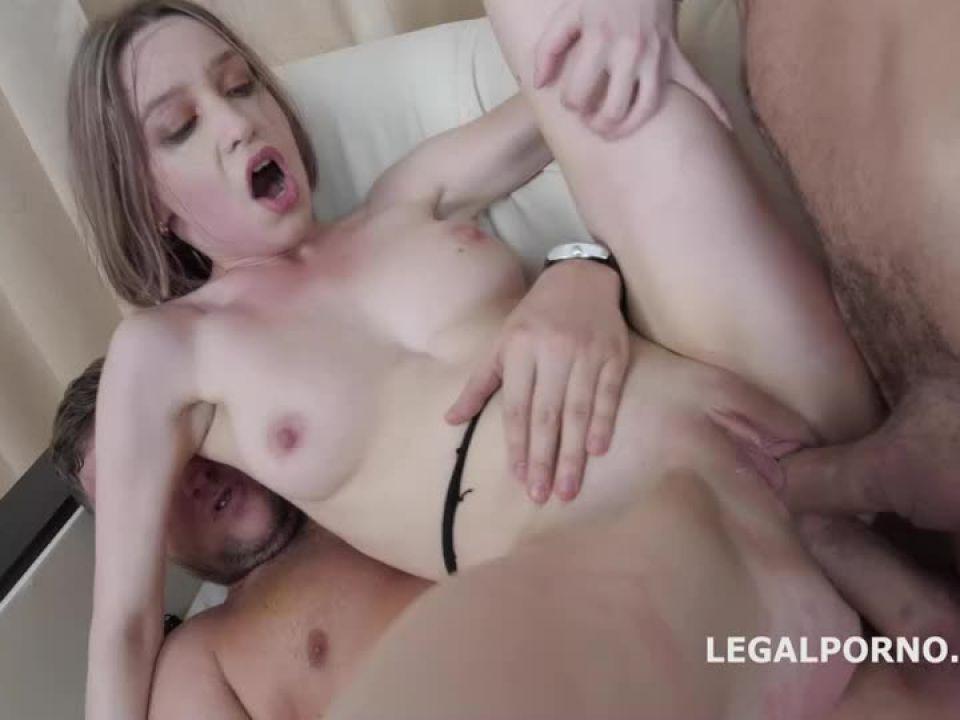 First Time DP, Balls Deep Action, Gapes, Rough Sex, Cum on face (LegalPorno) Screenshot 8