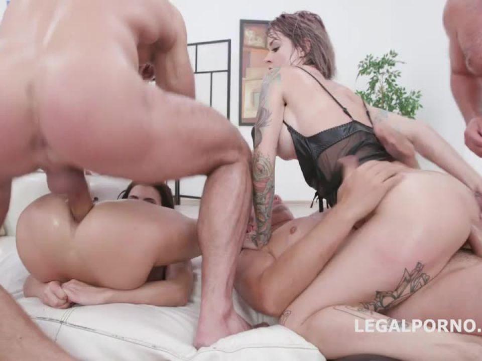 Addicted to Anal 2, Balls Deep Anal, Gapes, ATOGM, DAP, Cumswapping with Swallow (LegalPorno) Screenshot 6